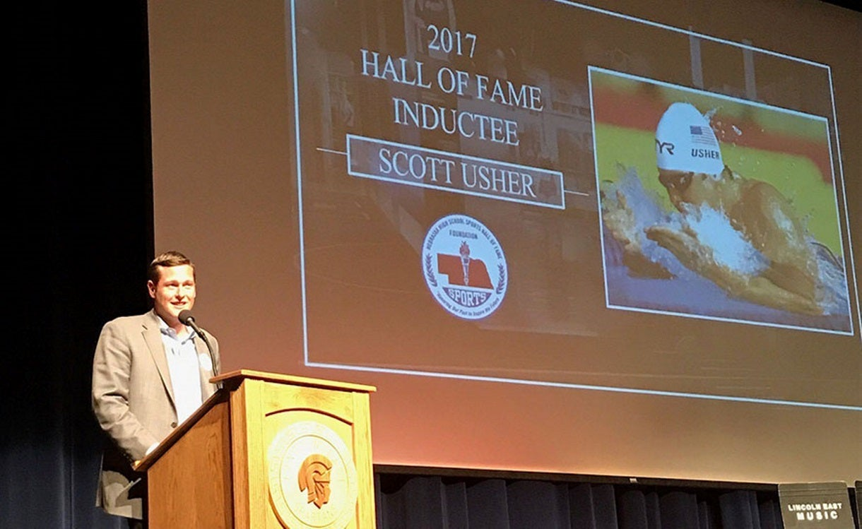 Olympian, Foundation Staffer Scott Usher Inducted into Nebraska High School Sports Hall of Fame