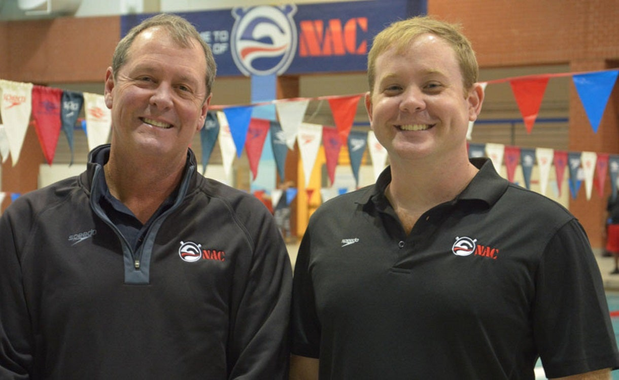 Developmental Coaches of the Year Morse and Wharam Credit Swimmers for Award