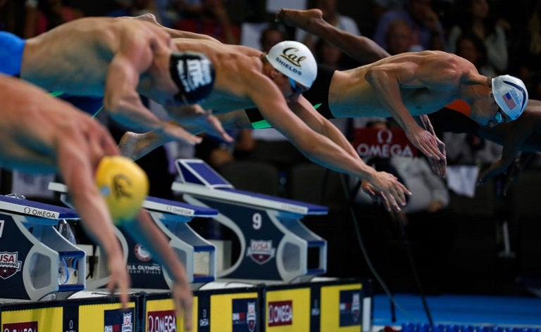 men 100 butterfly start Trials