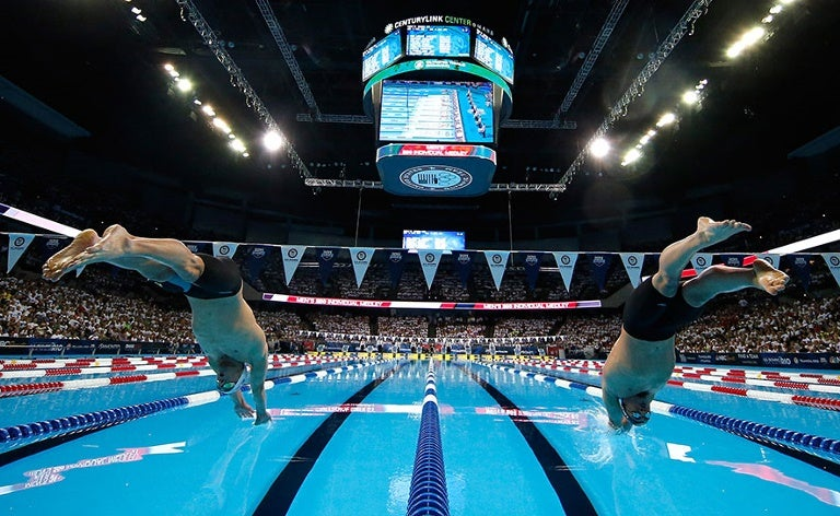Michael Phelps & Ryan Lochte duel at Trials