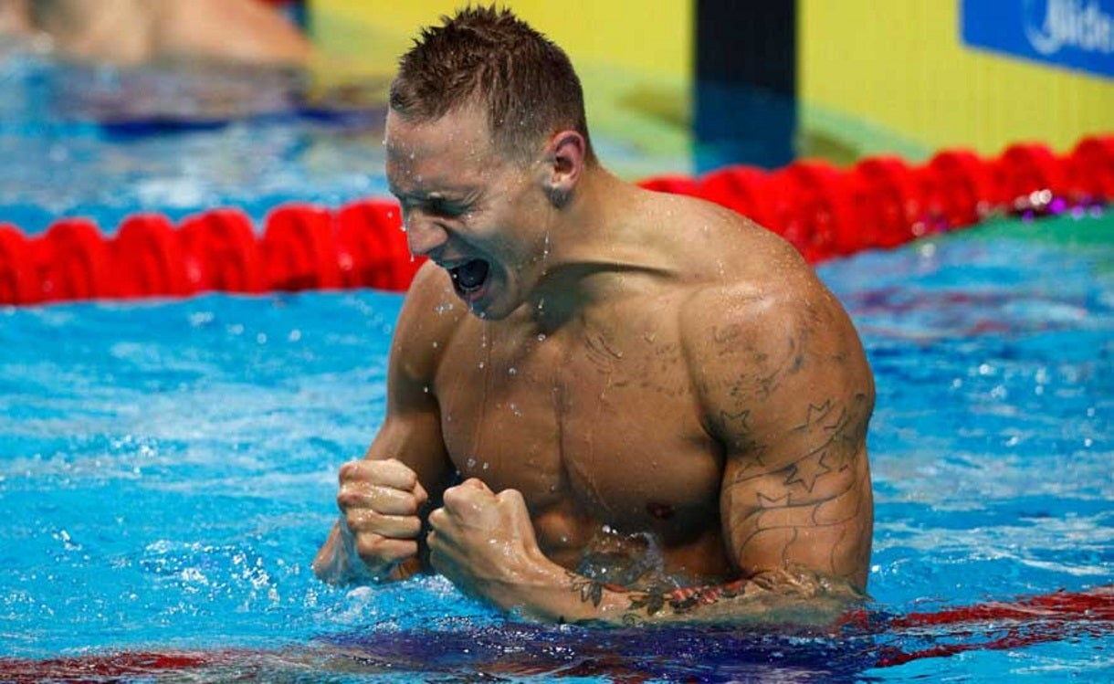 Dressel Wins Three Golds in One Night at Worlds