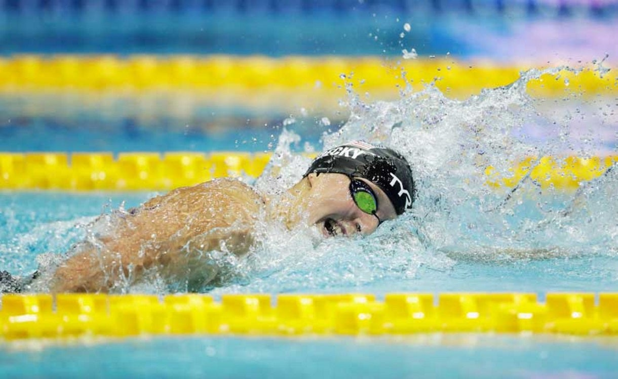 Ledecky Dominates 800, Wins Bronze in 200 on First Night of Pan Pacs