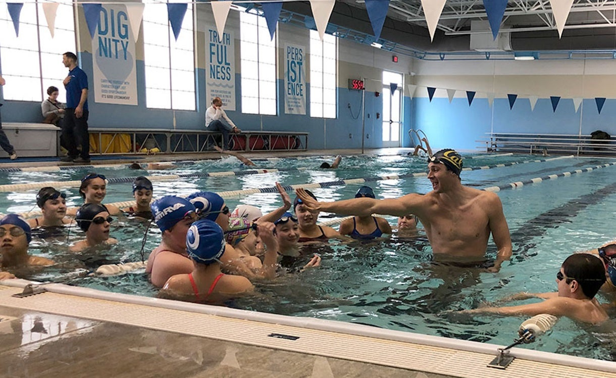 Baker & Murphy Inspire with TYR Pro Swim Series Advance Visits