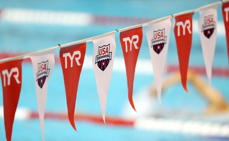 TYR Pro Swim Series backstroke flags
