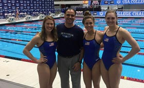 Andrea Cottrell and friends at the USA College Challenge