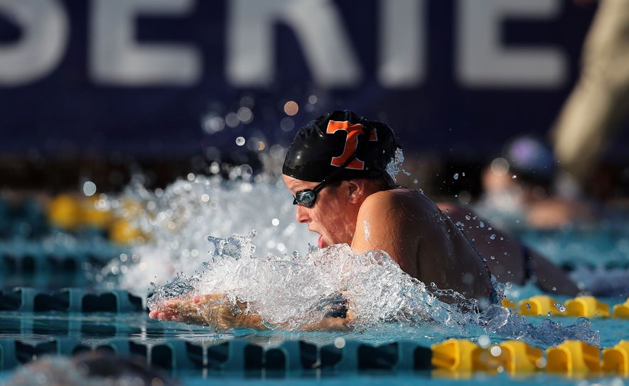 Molly Hannis competes during the TYR Pro Swim Series at Mesa