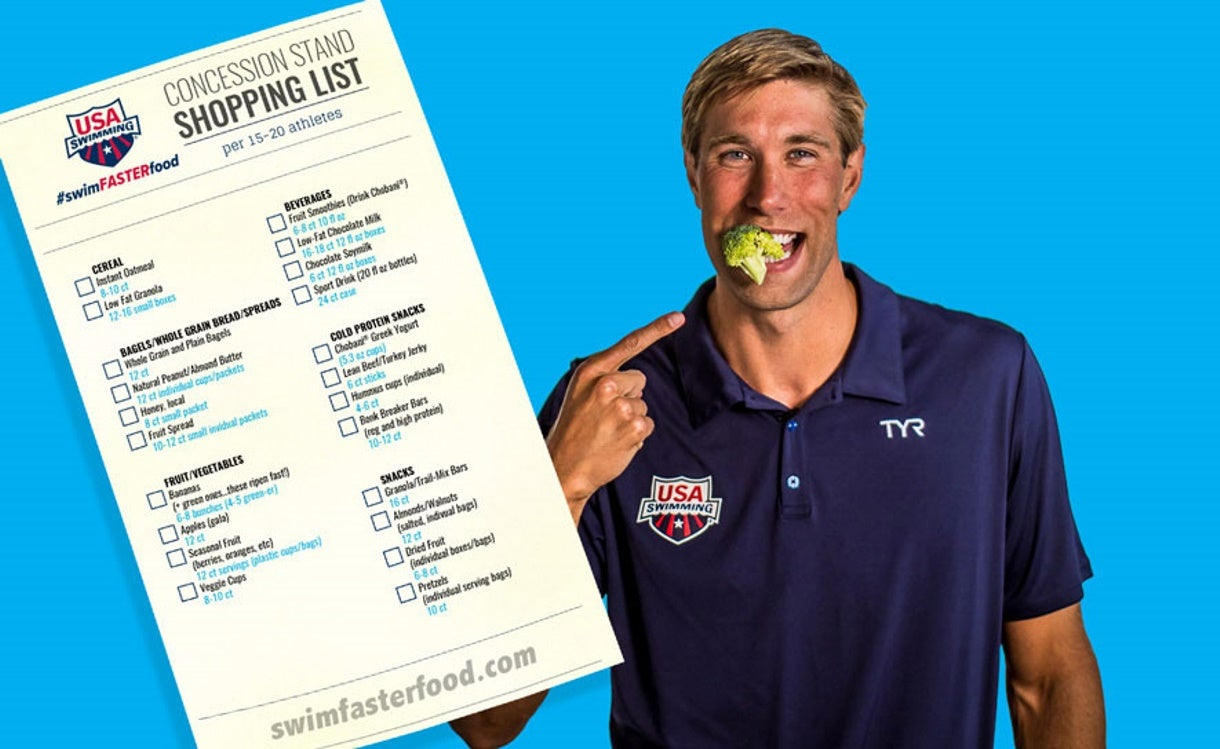 #swimFASTERfood Concession Stand Shopping List